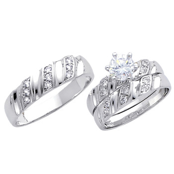 White Gold Trio Set - 14 K - TC165