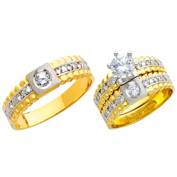 Yellow / White Gold Trio Set - TC159