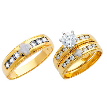 Yellow / White Gold Trio Set - TC157