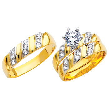 Yellow / White Gold Trio Set - TC147