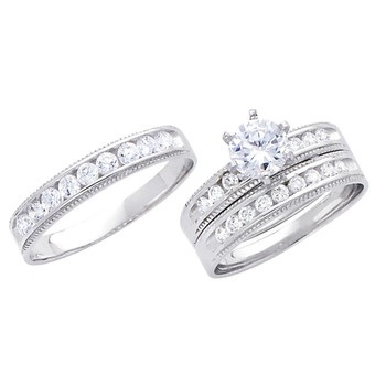 White Gold Trio Set - 14 K -  TC233