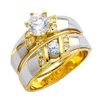 Engagement Ring / Wedding Band 14K  6.7 gr. - RG154