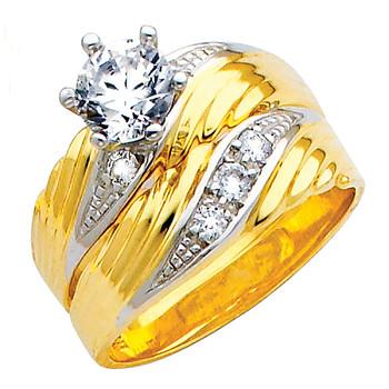 Engagement Ring / Wedding Band 14K  5.5 gr. - RG146