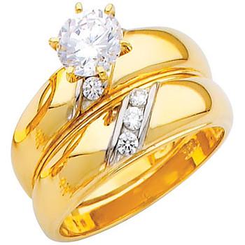 Engagement Ring / Wedding Band  14K  5.7 gr. - RG210