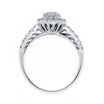 White Gold Engagement Ring - 14K  3.8 gr. - RG53