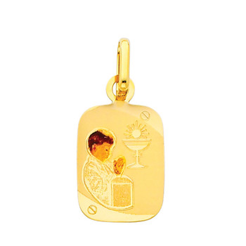 First Communion Gold Pendant - 14 K.  1.1 gr. - PT213