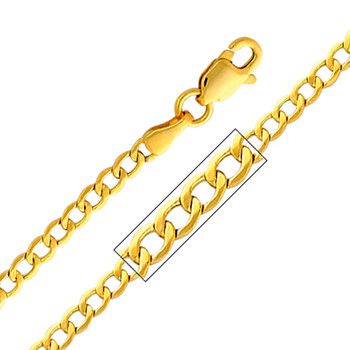 Yellow / White / Red Gold Chain - Cuban - 2.3 mm - CH167