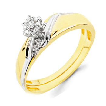 Yellow Gold Engagement Ring - 14K  0.08 Ct - DRG2E