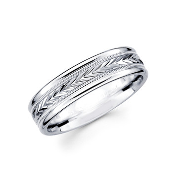 White gold wedding band - BC2-20