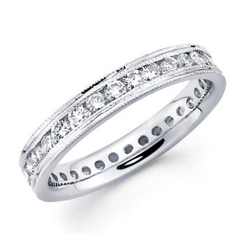 White gold wedding band with diamonds - BD5-11