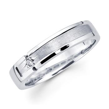 White gold wedding band with diamonds - BD2-16