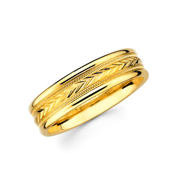 Yellow gold wedding band  - BC2-21