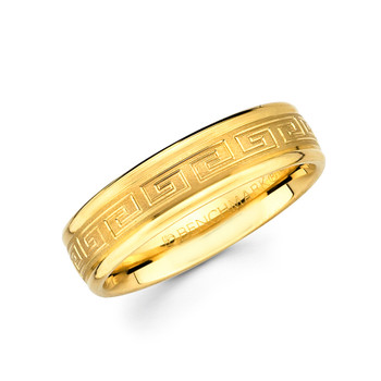 Yellow gold wedding band - 14 K. - BC2-17