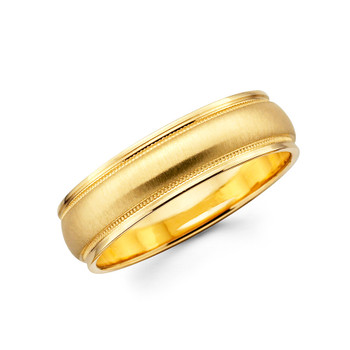 Yellow gold wedding band  - BC1-17