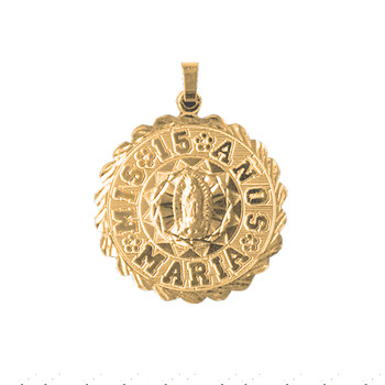 Forever 15 - Yellow Gold Pendant - XV012