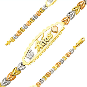 Forever 15 - Yellow / White / Red Gold Bracelet - 7.6 gr - AB152