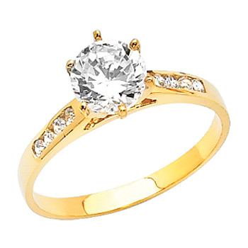 Yellow Gold Engagement Ring - 14 K.  2.1 gr - RG10