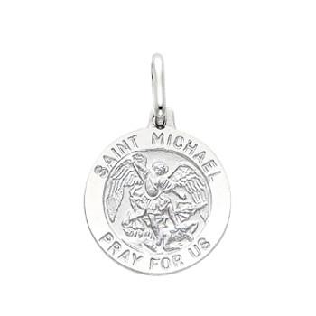 Yellow or White Gold Medal - St Michael - 14 K - 1.9 gr. - PT282