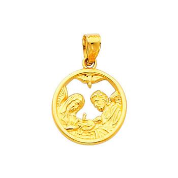 Yellow Gold Baptism Medal - 14 K.  1.3 gr. - PT243
