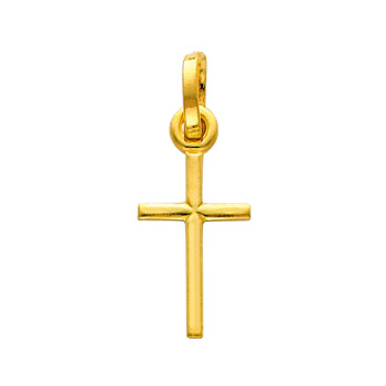 Yellow or White Gold Cross - 14K  - 0.6 gr - PT141