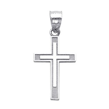 Yellow or White Gold Cross - 14K - 0.9 gr - PT136