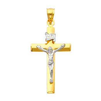 Yellow / White Gold Cross - 1.5 gr. - PT13