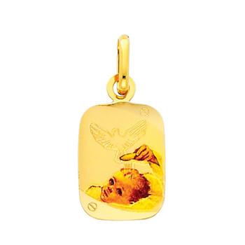 Yellow Gold Baptism Medal - 14 K.  1.1 gr. - PT220