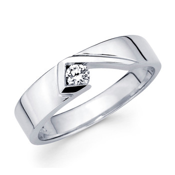 White gold wedding band with diamonds - BD1-24