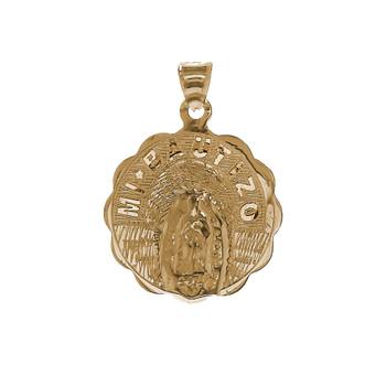 Yellow Gold Baptism Medal - 14 K - 1.5 gr. - BPT-338