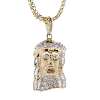 Jesus 14K Gold & Diamonds Pendant - MRD-202