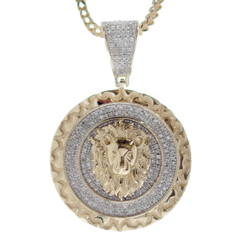 10K Gold & Diamond Pendant - Lion - APD-311
