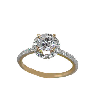 Yellow Gold Engagement Ring - 14K - ERB-614