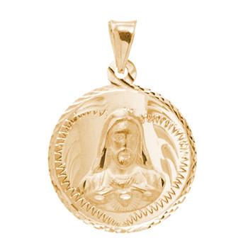 Virgin Mary / Jesus 14K Gold - 2 Sided - 3.1 Gr. - MRD-415 Side 2