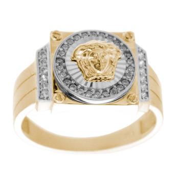 Yellow / White Gold Ring - 14 K - RGO-255