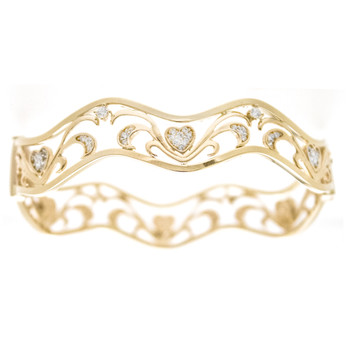 Yellow Gold Bracelet with CZ gr - BLG-704