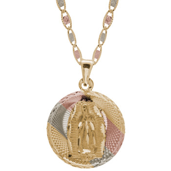 Yellow / White / Red Gold Medal - Virgen Guadalupe - 14 K - RP201