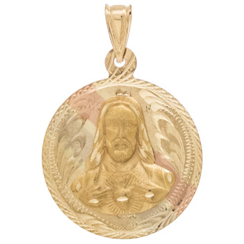 Yellow / White / Red Gold Medal - Jesus - 14 K - RP214