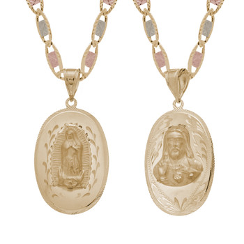 Yellow Gold Medal - 2 Sides - 14 K - RP218