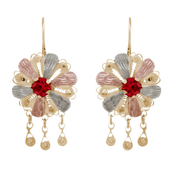 Yellow / White / Red Gold Earrings - GFH-201