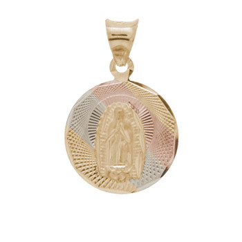 Yellow / White / Red Gold Virgin Mary Medal - 14 K - RP232