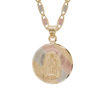 Yellow / White / Red Gold Virgin Mary Medal - 14 K - RP233