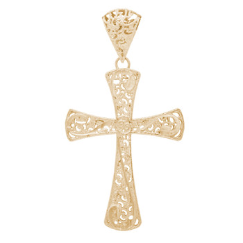 Yellow Gold Cross Pendant - 14 K - PTC227 18.8g