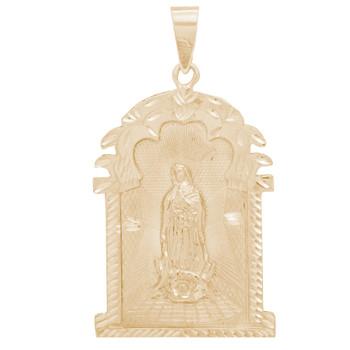 Yellow Gold Virgin Mary Pendant - 14 K - PTR556  14 K.| 14.7 gr.