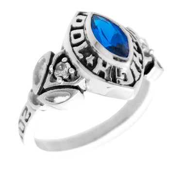 Graduation Ring / White Gold - CZ - GDR161