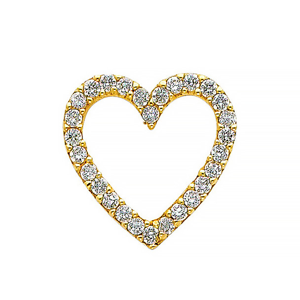 Yellow Gold Pendant - 14 K - CZ - PT582