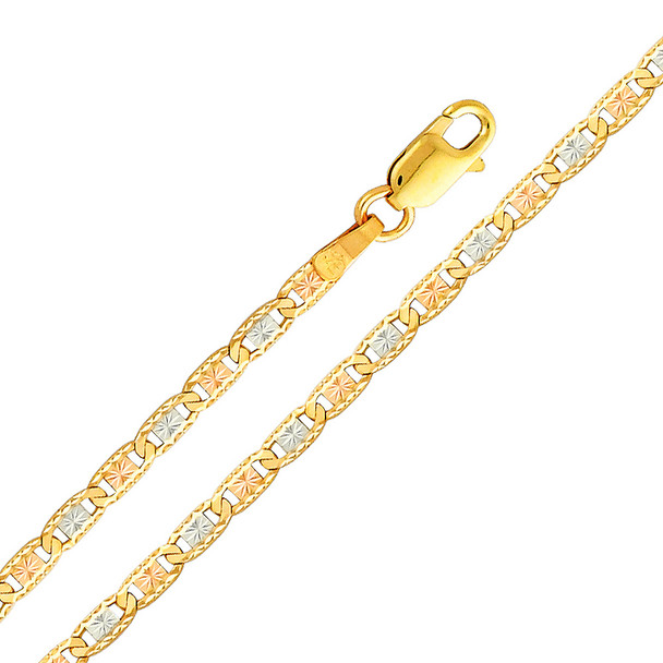 Yellow / White / Red Gold Chain - Valentino DC - 2.6 mm - CH113