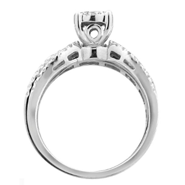 White Gold Engagement Ring - 14K | 1.40 Ctw. - 59053