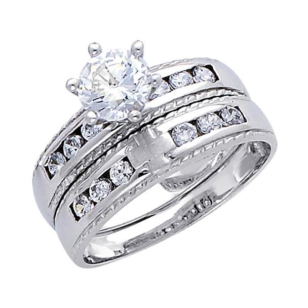Engagement Ring / Wedding Band 14K  5.2 gr. - RG174