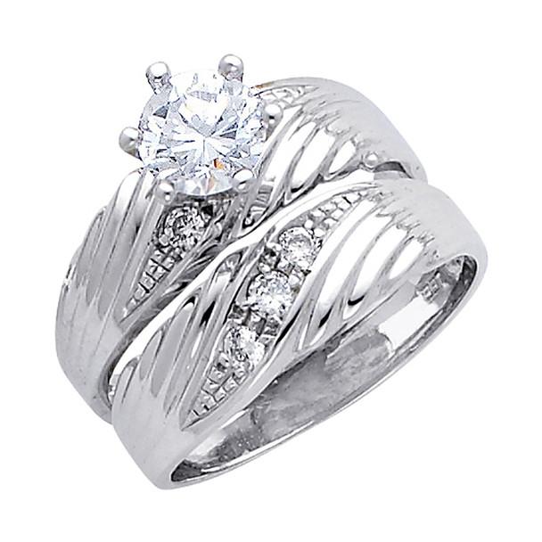 Engagement Ring / Wedding Band 14K  5.5 gr. - RG164