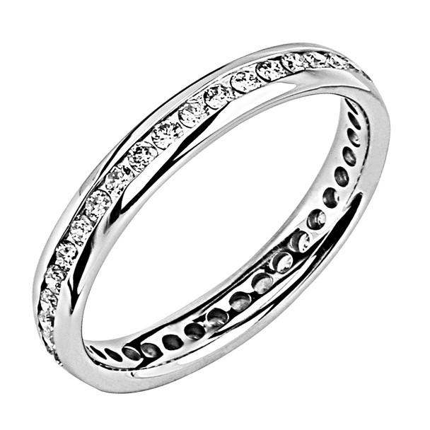 White gold wedding band with diamonds - BD5-4